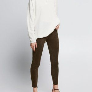 ZARA Faux Suede Leggings, Medium